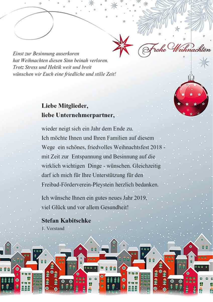 Frohe Weihnachten Brief.Frohe Weihnachten Freizeitzentrum Pleystein
